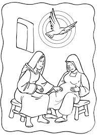 Luke 1:39-56: Mary Visited Elizabeth; Mary & Elizabeth Coloring ...