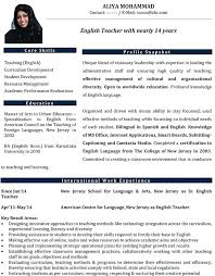 English Resume Template – Syounizensoku.info