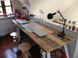 wooden home office desk. Amazing Diy Home Office Desk How To Build A From Wooden Pallets  Pallet Furniture Ideas Wooden Home Office Desk