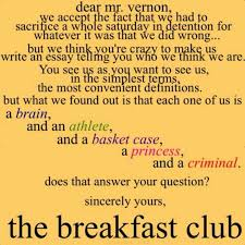 best sincerely yours the breakfast club images  the breakfast club the essay brian wrote