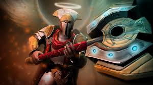 dota 2 hero omniknight ax armor obile screen wallpapers hd