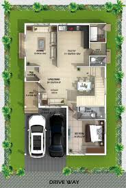 Indian House Designs And Floor Plans Type A West Facing Villa Ground Floor Plan 2bhk House Plan