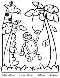 Small Picture Color by Numbers Printables for Kids Free Coloring Pages Mazes