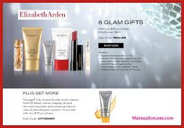 receive a free 6 pc gift with 50 elizabeth arden purchase elizabetharden