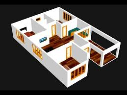 small house plan 9 x 13m 3 bedroom with
