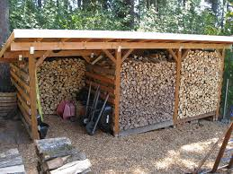 A simple but beautiful firewood storage shed.