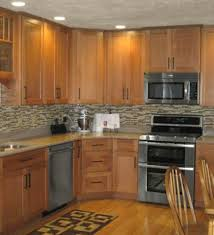 Small Picture Oak Kitchen Cabinets Casual Cottage Kitchen Remodel Oak Cabinets