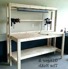 outdoor work bench ideas for garage home design workbench plans table free easy portable rogue engineer