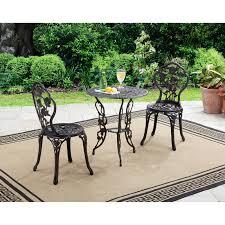 Better Homes and Gardens Rose 3pc Bistro Set Patio Furniture Retro