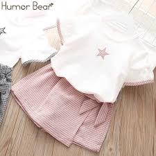 <b>Humor Bear Girls</b>' <b>Children</b> Clothing Set 2019 Brand NEW Star T ...