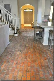 Brick Flooring In Kitchen Brick Home Interior Flooring Hallway Into Kitchen Home Interior