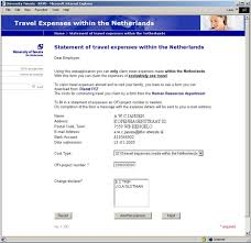 Other Manuals Travel Expenses Within The Netherlands Finance