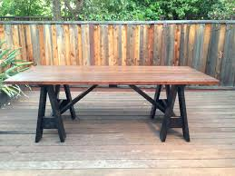 Diy Projects For Men Ana White Sawhorse Outdoor Table By My Lyon Men Diy Projects