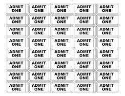 Admit One Ticket Template Free Cool Admission Ticket Template Free Download Meal Blue Templates For