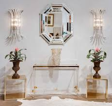 lucite console table. Collection In Lucite Console Table With Vintage Brass And Glass At 1stdibs