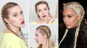 3 Coiffures Pour La Rentr E La Kardashian Tresses Coll S 2 Tresse Collee