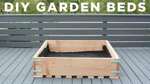 diy garden beds how to make raised garden planters for a deck you