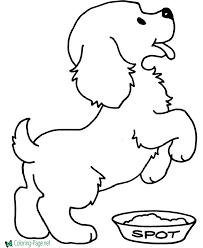 Color a likeness of your favorite furry friend with these free pet coloring pages! Dog Coloring Pages