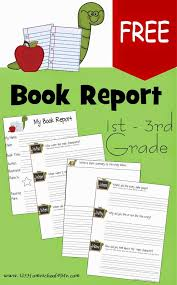 Book Report Poster Template Free 1st 3rd Grade Book Report Template Homeschool Giveaways