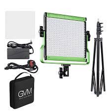 Outdoor Interview Lighting Gvm 480ls G 28w Bi Color 2300 6800k Led Video Panel Light