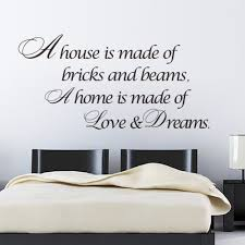 My Dream House Quotes Best of House Is Love Dreams Home Decor Quote Wall Sticker Poster Vinyl Wall