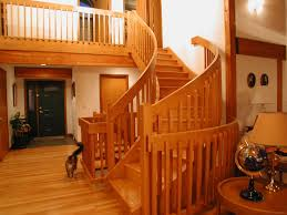 Craftsman Staircase hand made curved craftsman style red oak staircase by master 8325 by xevi.us
