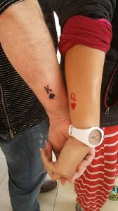 Small Couple Tattoo King Queen Tattoos Queen Tattoo Small