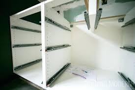 ikea kitchen sink cabinet installation interior of an kitchen cabinet with drawer slides ikea kitchen sink