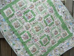The 25+ best Neutral baby quilt ideas on Pinterest | Striped quilt ... & Baby Quilt, Peter Rabbit Nursery, Beatrix Potter Quilt, Gender Neutral Baby  Quilt, Adamdwight.com
