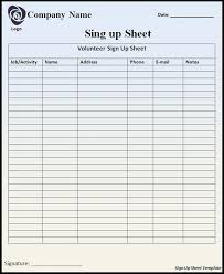 Easy Sign Up Sheet Email Sign Up Sheet Template Beautiful Email Sign Up Sheet Template