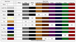 This Excel Chart Shows You What Color Shoes You Can Wear