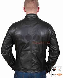 mens fitted leather jacket danzel black