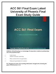 acc final exam latest university of phoenix final exam study acc 561 final exam latest university of phoenix final exam study guide docshare tips