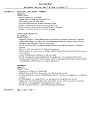 Plain Resume Templates Doorman Resume Samples Velvet Jobs