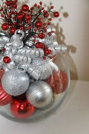 Christmas Centerpiece - Red and Silver Holiday Decoration - Hostess Gift -  Christmas Event Centerpiece - Corporate Christmas Party