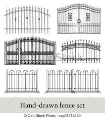 picket fence drawing. Drawn Fence Clip Art #14 Picket Drawing M