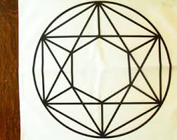 Crystal Grid Patterns Stunning 48x48 Metatron Gold Glow Crystal Grid Cloth Star