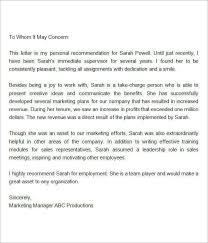 Ideas Collection How To Make An Employee Re mendation Letter Description