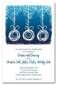White Christmas Invitations White Abstract Christmas Ornaments On Blue Holiday Party Invitations