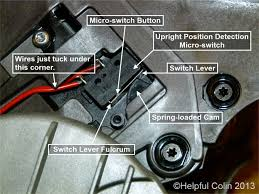 dyson slim dc18 undercarriage repair helpful colin dyson slim dc18 upright position detection micro switch