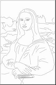 Small Picture impressive mona lisa coloring page with mona lisa coloring page