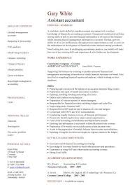 assistant accountant resume format in word senior ...