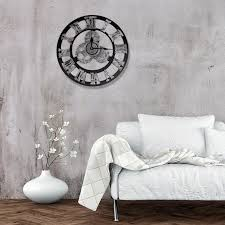 large wall clock industrial style