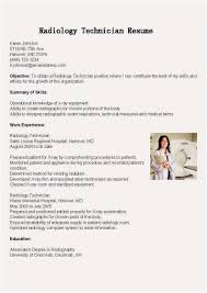 Radiologic Technologist Resume X Ray Technician Cover Letter | Free ...