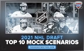 The seattle kraken will be a factor. 2021 Nhl Entry Draft Top Ten Mock Scenarios 1 0