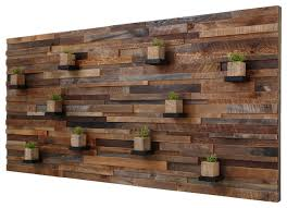 Salvaged Wood Floating Shelves Stunning Reclaimed Barn Wood Wall Art With Floating Shelves 322'x32'32 Rustic