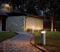 garden bollard lighting. View In Gallery Stylish Bollard Lamps For The Alley Garden Lighting R