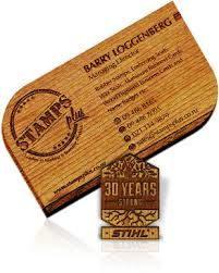 wooden business cards wood engraved business cards stamps plus