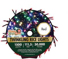 Holiday Bright Lights Led Contractor Grade Holiday Bright Lights 1500l Twinkling Rice Light Reel Over 1 000 Days Of Use Great For Holiday Decoration Nearly 112 Ft Long Comes With A Storage