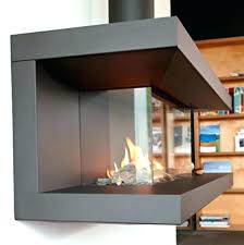 two sided electric fireplaces